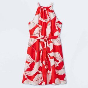 NWT new day Red Floral Sundress Sz S Red White
